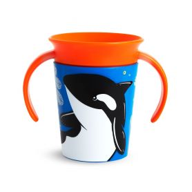 Munchkin Miracle 360 Κύπελλο με Λαβές Φάλαινα 6m+ 177ml-Pharmacystories