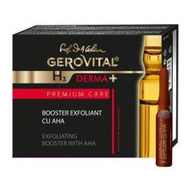 Gerovital Derma+ Αμπούλες Απολέπισης (peeling) Booster με ΑΗΑ 4amp x 2ml - Gerovital