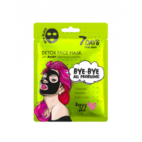 7 DAYS BLACK Bye-Bye, Skin Problems Sheet Mask 25g-pharmacystories