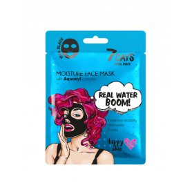 7 DAYS BLACK Real Water Boom! Sheet Mask 25g-pharmacystories