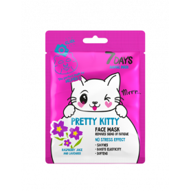 7 DAYS ANIMAL Pretty Kitty Sheet Mask 28g-pharmacystories
