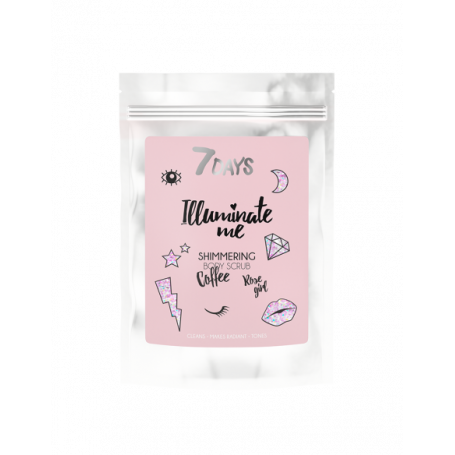 7 DAYS ROSE GIRL Shimmering Coffee Body Scrub 200g - 7days