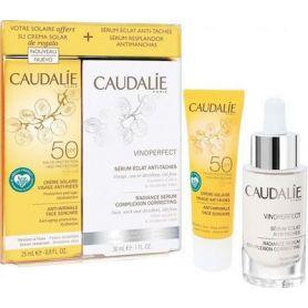 Caudalie Vinoperfect Serum Complexion Correcting 30ml & ΔΩΡΟ Soleil Divin Anti-Ageing Spf50 Face Suncare 25ml - Caudalie