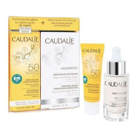 Caudalie Vinoperfect Serum Complexion Correcting 30ml & ΔΩΡΟ Soleil Divin Anti-Ageing Spf50 Face Suncare 25ml