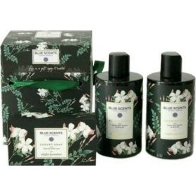 Blue Scents Night Jasmine Gift Box Σετ Δώρου με Shower Gel 300ml + Body Lotion 300ml + Soap 150gr - Blue Scents