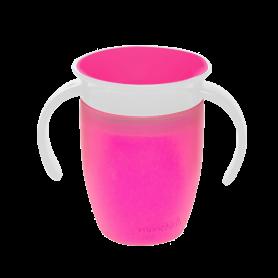 Munchkin Παιδικό Κύπελλο Miracle 360 Trainer Cup 6m+ με χερούλια 207ml Ροζ - Munchkin