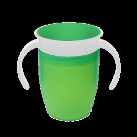 Munchkin Παιδικό Κύπελλο Miracle 360 Trainer Cup 6m+ με χερούλια 207ml Πράσινο - Munchkin