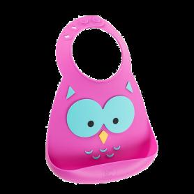 Make My Day Baby Bib, Σαλιάρα Σιλικόνης Owl, 6+ μηνών - Make My Day