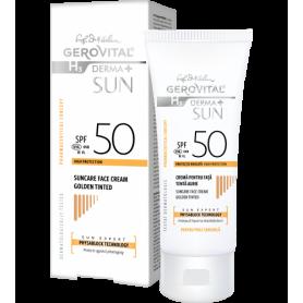 Gerovital Αντηλιακή Αντιγηραντική κρέμα προσώπου SPF 50 Golden Color 50ml - Gerovital