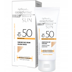 Gerovital Αντηλιακή Αντιγηραντική κρέμα προσώπου SPF 50 Golden Color-pharmacystories-pharmacy