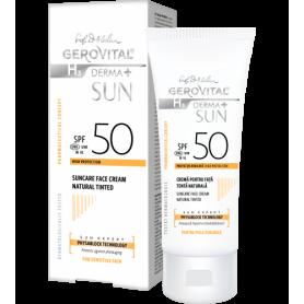 Gerovital Αντηλιακή Αντιγηραντική κρέμα προσώπου SPF 50 Natural Color-pharmacystories-pharmacy-gerovital