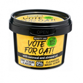 "Beauty Jar ""VOTE FOR OAT!"" Μάσκα/Scrub προσώπου, 120gr-pharmacystories-pharmacy-beauty jar"