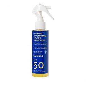 Korres Ginseng - Υαλουρονικό Αντηλιακό Splash SPF50 Για Πρόσωπο Σώμα 150ml - Korres