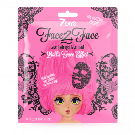 7 Days Face-2-Face Lace Hydrogel Mask Cocoa Beans 28g-pharmacystories-pharmacy-my7days