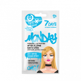 7 Days Hydrogel eye patches Dynamic Monday with Kaolin and Rice Extract 2,5 g - 7days
