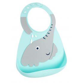 Make My Day Baby Bib Σαλιάρα Σιλικόνης Elephant 6m+, 1 τμχ - Make My Day