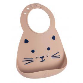 Make My Day Baby Bib Σαλιάρα Σιλικόνης Cat 6m+, 1 τμχ-pharmacystories-pharmacy