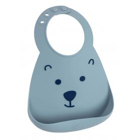 Make My Day Baby Bib Σαλιάρα Σιλικόνης Bear 6m+, 1 τμχ - Make My Day