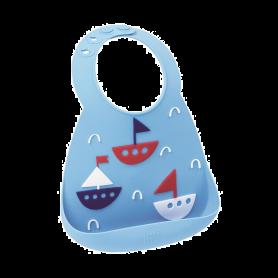 Make My Day Baby Bib Σαλιάρα Σιλικόνης Baby Bib Boats 6m+, 1 τμχ-pharmacystories-pharmacy