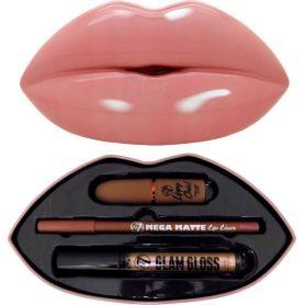 W7 Cosmetics Kiss Kit Bare It All Lipstick, Lip Gloss & Lip Pencil-pharmacystories-pharmacy