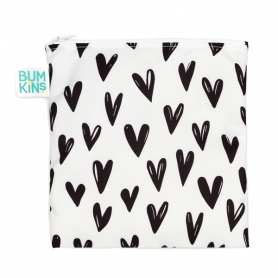 Bumkins Reusable Large Snack Bag Hearts 1 τμχ-pharmacystories-pharmacy