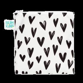 Bumkins Reusable Large Snack Bag Hearts 1 τμχ - Bumkins