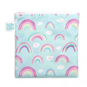 Bumkins Reusable Snack Bag Large Rainbows 1τμχ - Bumkins