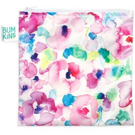 Bumkins Reusable Snack Bag Large Watercolors 1τμχ -pharmacystories-pharmacy