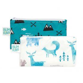 Bumkins Reusable Snack Bag Small 2PK BOYS - Bumkins