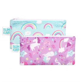Bumkins Reusable Snack Bag Small 2PK UNICORNS-Pharmacystories-pharmacy