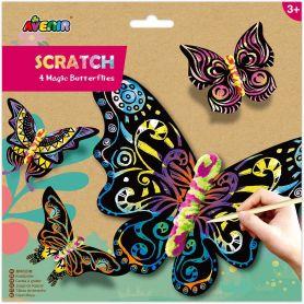 Avenir Scratch - 4 Magic Butterflies Arts & Crafts Χειροτεχνίες-pharmacystories-pharmacy