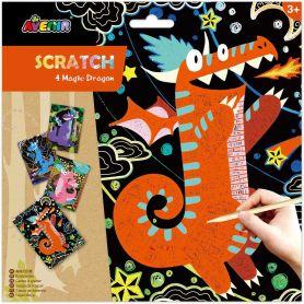 Avenir Arts & Crafts Χειροτεχνίες Scratch - 4 Magic Dragon - Avenir