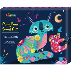 Avenir Arts & Crafts SAND & POM POM ART - FOX & SLOTH-pharmacystories-pharmacy