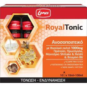 Lanes Royal Tonic 10x10ml - Συμπήρωμα Διατροφής Με Βασιλικό Πολτό Για Ενίσχυση Του Ανοσοποιητικού - Lanes