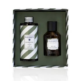 Blue Scents Gift Set Olive Oil & Green Pepper Shower Gel 300ml & Eau De Toilette 100ml - Blue Scents