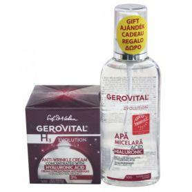 Gerovital Gift Box Υαλουρονικό 3% 50ml + Micellar Water με Υαλουρονικό Οξύ 150ml