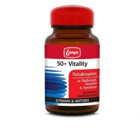 Lanes Πολυβιταμίνες 50+ Vitality για Δύναμη και Αντοχή 30 ταμπλέτες - Lanes