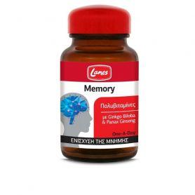 Lanes Πολυβιταμίνες Memory με Ginkgo Biloba & Ginseng 30 ταμπλετες - Lanes