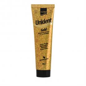 Intermed Unident Gold Toothpaste Λευκαντική Οδοντόκρεμα 100ml-pharmacystories-pharmacy