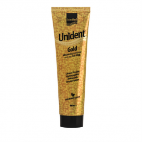 Intermed Unident Gold Toothpaste Λευκαντική Οδοντόκρεμα 100ml - Intermed