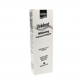Intermed Unident Whitening Professional Toothpaste Λευκαντική Οδοντόκρεμα,Γεύση Μέντας 100ml- pharmacystories-pharmacy