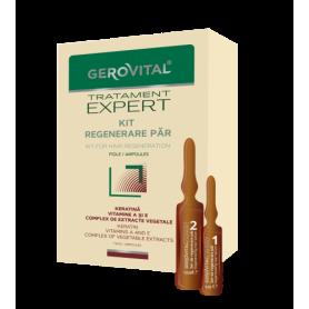 Gerovital Πολυβιταμινούχες Αμπούλες με Κερατίνη για Αναδόμηση 10x10ml & 10x5ml - Gerovital