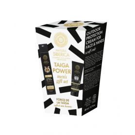Taiga Power men's gift set, Ανδρικό σετ (Σαμπουάν για σώμα και μαλλιά 2 σε 1, 250 ml +Κρέμα για πρόσωπο και χέρια, 75 ml) - N...