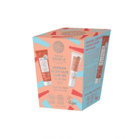 Siberian Glow Face Care Σετ (Mάσκα προσώπου στιγμιαίας λάμψης, 75ml +  Οργανική BB Κρέμα Προσώπου, 30ml)