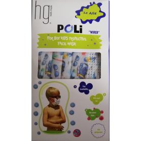 Poli HG Kids Face Mask 3-6 Age Wired Boys Summer Bus 10τμχ - PharmacyStories