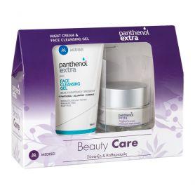 Medisei Panthenol Extra Night Cream 50ml & Face Cleansing Gel 150ml - Panthenol Extra