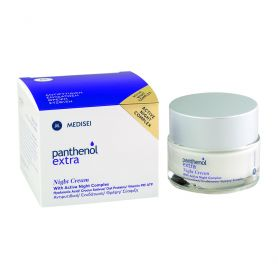 Medisei Panthenol Extra Night Cream, Αντιρυτιδική Κρέμα Νύχτας για Ενυδάτωση, Θρέψη & Σύσφιγξη 50ml