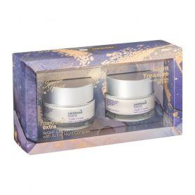 Medisei Panthenol Extra Night Treasuse Limited Edition Αντιρυτιδική Κρέμα Νύχτας 2x50ml - Panthenol Extra