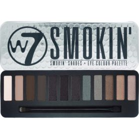 W7 Smokin Shades Eye Colour Palette 12 Αποχρώσεις 15.6gr - W7 MakeUp
