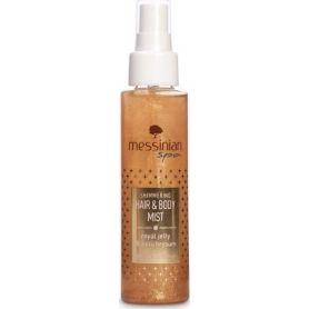 Messinian Spa Hair & Body Mist Shimmering Βασιλικός Πολτός & Ελίχρυσος Eau Fraiche 100ml - Messinian Spa